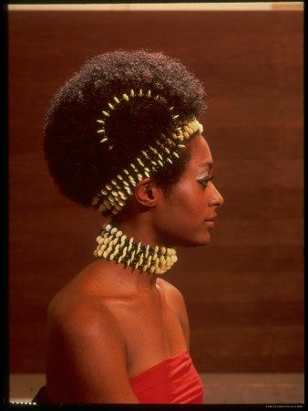 Roanne Nesbitt Modeling Afro Wig