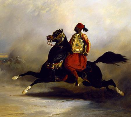 Nubian Horseman at the Gallop