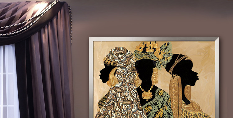 African American Art Framed Black Pictures Wall Decor