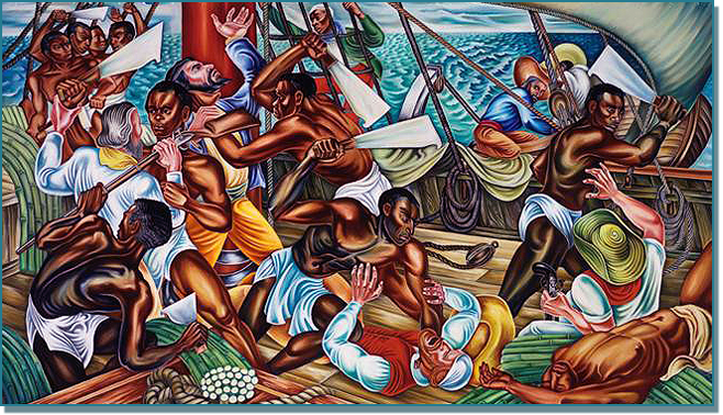 The mutiny on the amistad 1939 for African mural painting