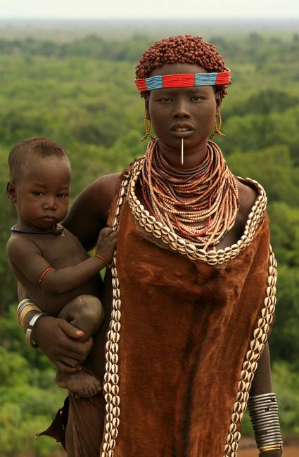 Ethiopian-Tribal-Mother--Child_art