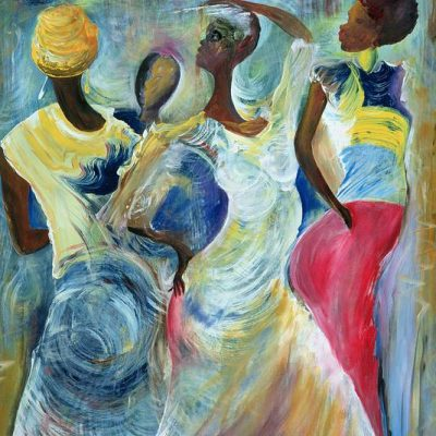 Sister-Act-acrylic-on-canvas-by-Ikahl-Beckford_art