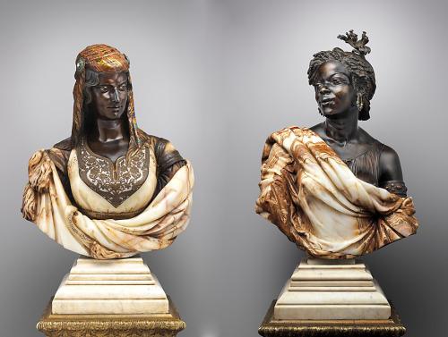 Black Moorish Portrait Busts